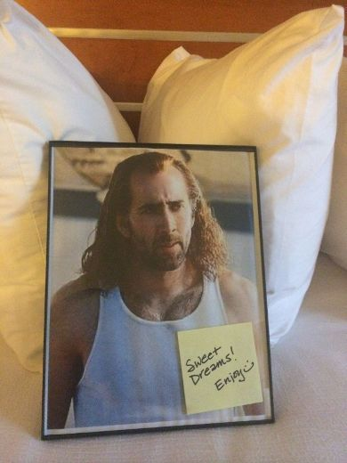 Hotel concierge delivers on guest's request for Nicolas Cage photo