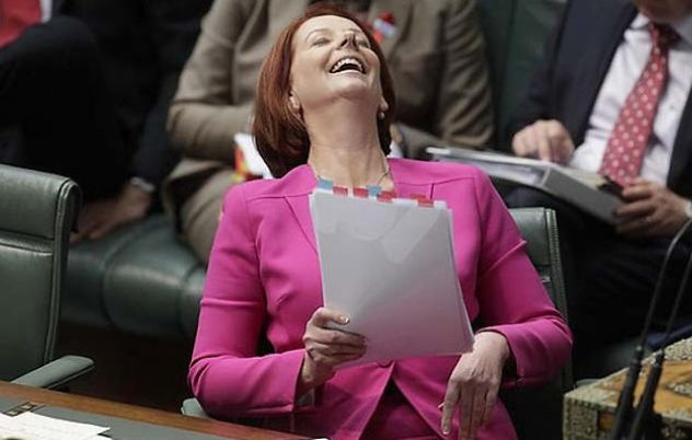 Julia Gillard Rushed To Hospital After Overdosing On Schadenfreude.