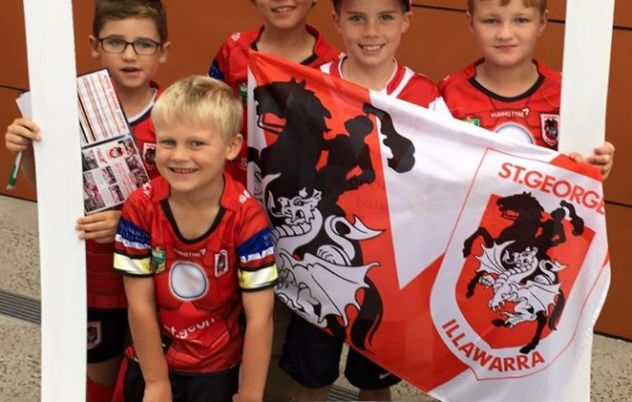 Some of our young Dragons fans all geared up to…