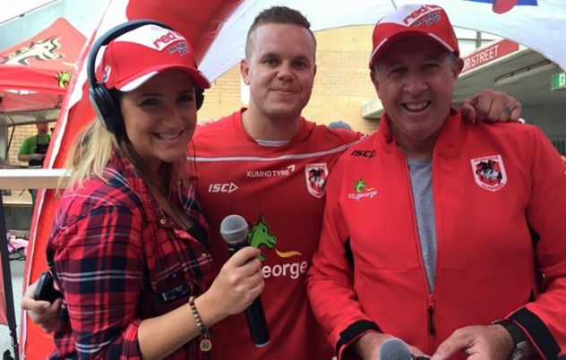Marty, Bee and Dan Hunt at the Dragons Community…