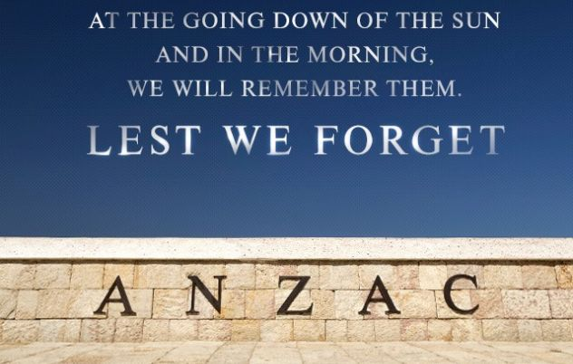 Thank you to all the ANZACs and present day…