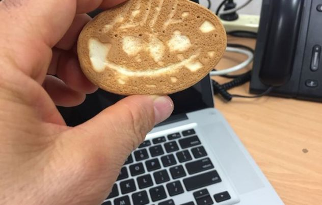 Who does this Milk Arrowroot biscuit look like?...