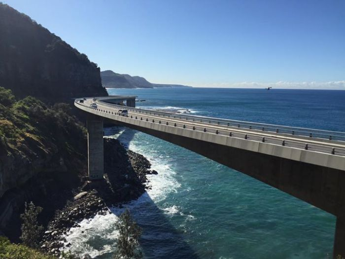 Morning hike around the Sea Cliff Bridge, this…