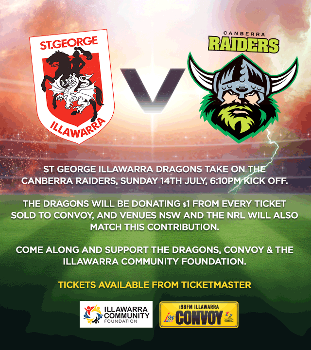 On Sunday the I98FM Illawarra Convoy is the game…