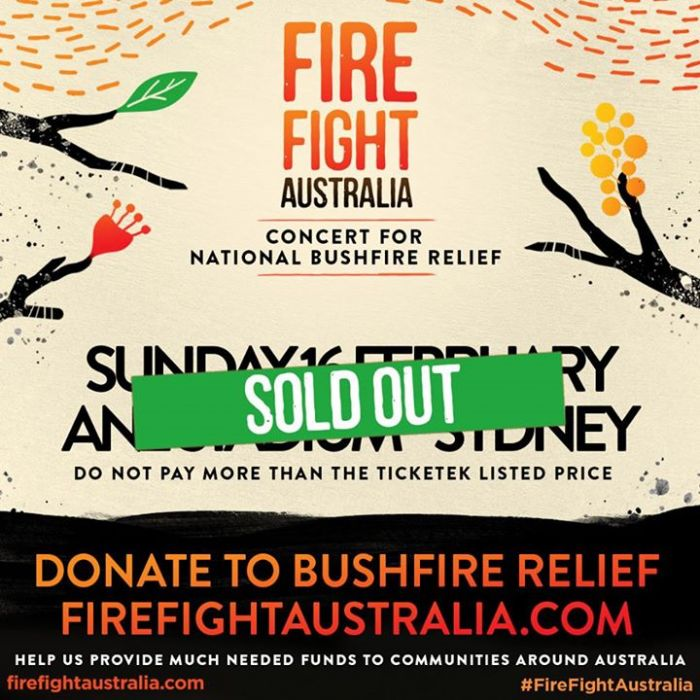The Fire Fight concert has officially sold out,...