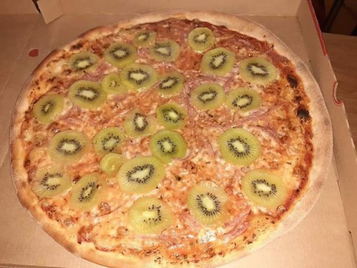 This is a Kiwi pizza 🥝🍕, it was made in a…