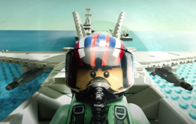 Top Gun and Lego mashup is spectacular viewing