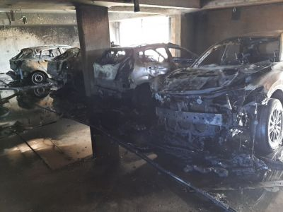 Fairy Meadow car park goes up in flames