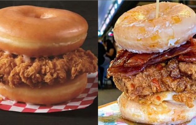 Let's talk about fried chicken on donuts